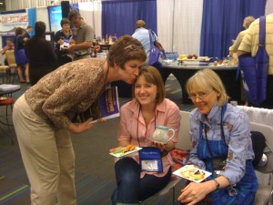 Julie Rolsen with Annie and Mary Deneen