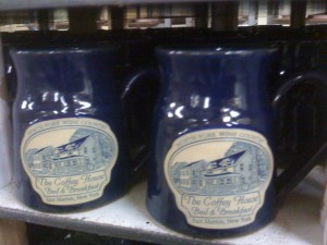 The Coffey House B&B - Navy Colonial Mugs