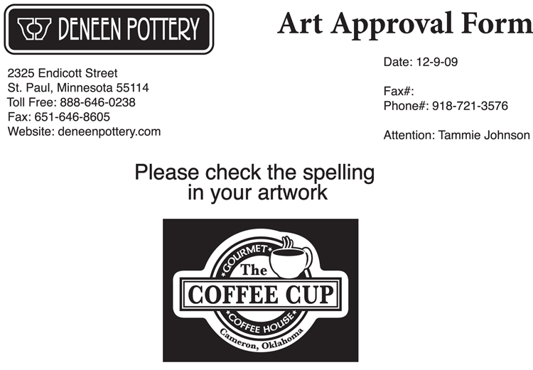 The Coffee Shop Art Approval