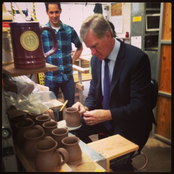 Deneen Pottery _ Mayor Chris Coleman