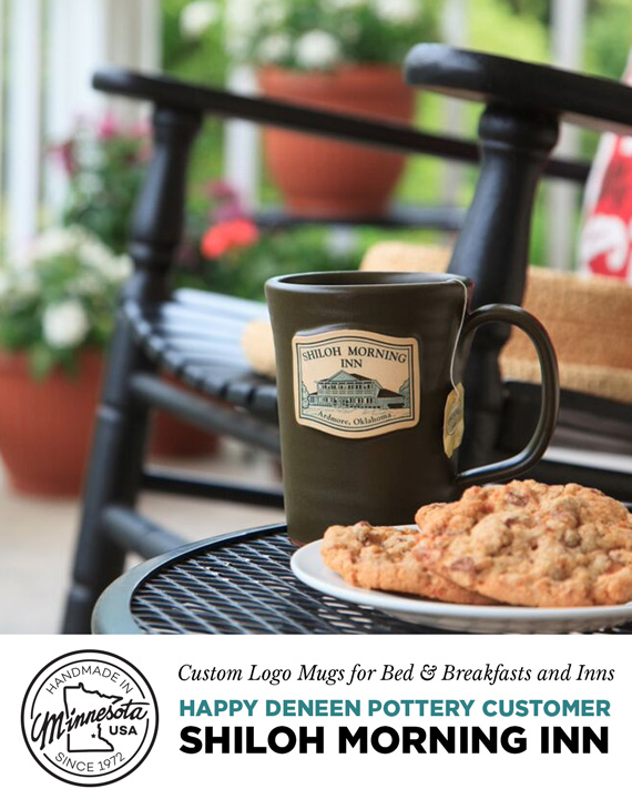 Shiloh Morning Inn - Custom Logo Mugs for Bed and Breakfasts, Inns and marketing ideas for Bed and Breakfasts