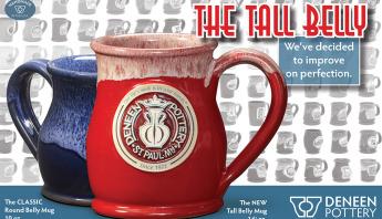 Tall Belly - Deneen Pottery - handmade mug - custom design