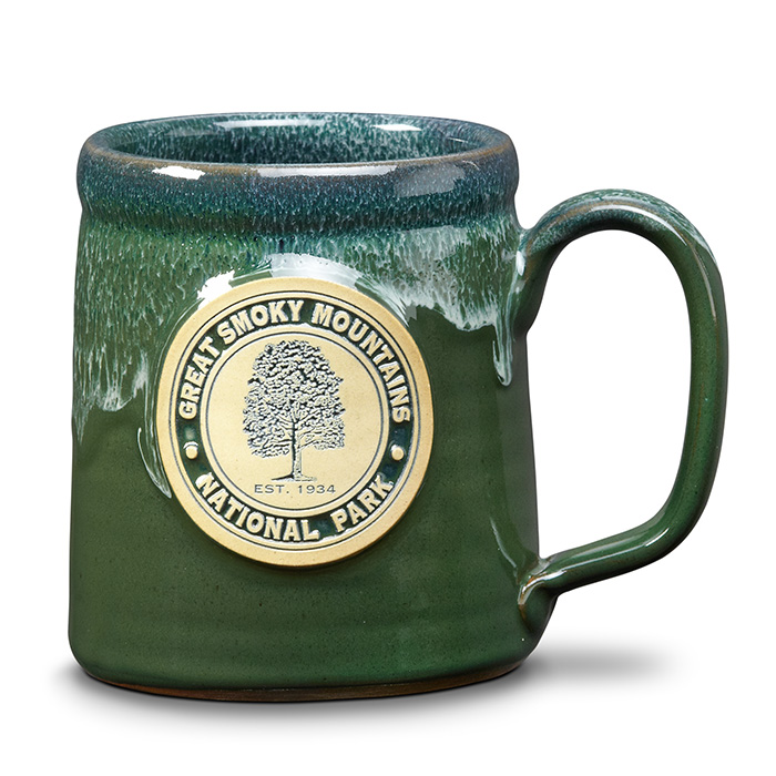 Great Smoky Mountain NP - Camper Mug - Hunter w/Blue White