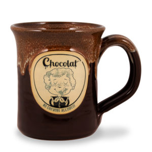 Chocolat <a class='qbutton' href='https://deneenpottery.com/mug-styles/flare-mug/'>View More Details</a>