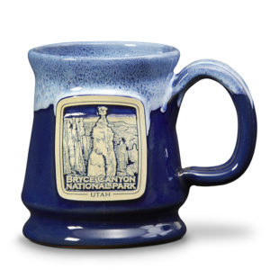 Bryce Canyon - Footed Mug - Navy Blue w/Powder White