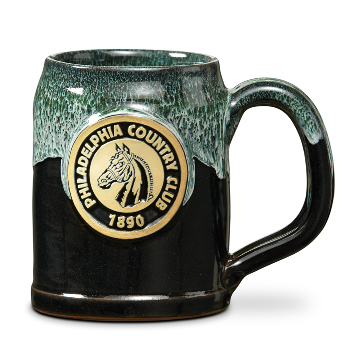Philadelphia Country Club - German Tankard - Black w/Hunter White