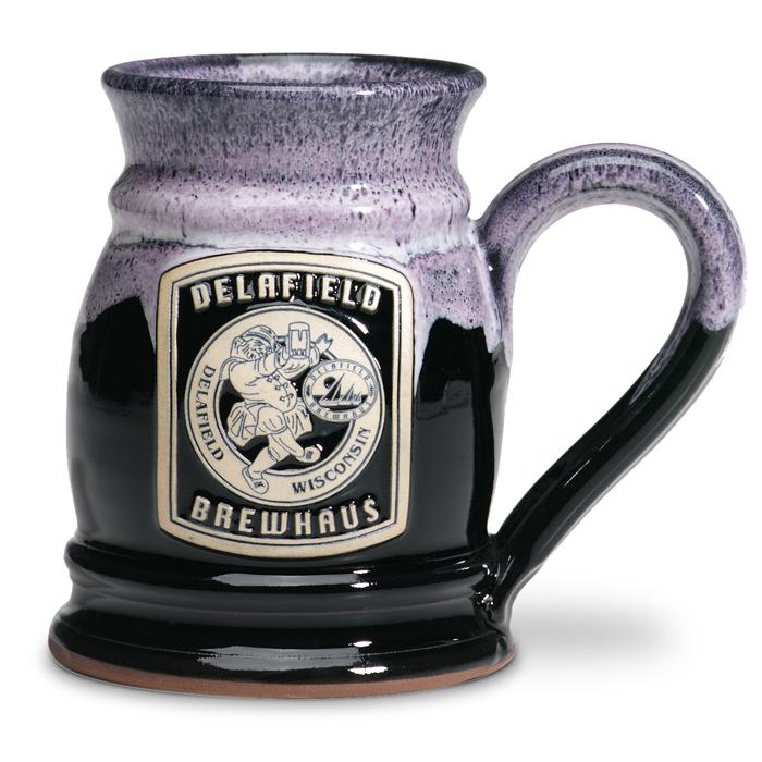 Delafield Brewhaus - Round Tankard - Black w/Lilac White