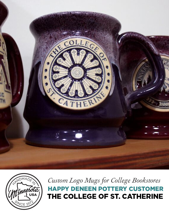 College Mug, St. Catherine, Custom Pottery and Logo Mug