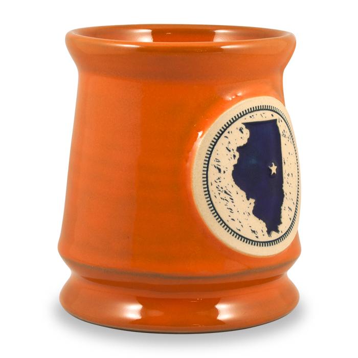 Sunset Orange w/Navy Fill