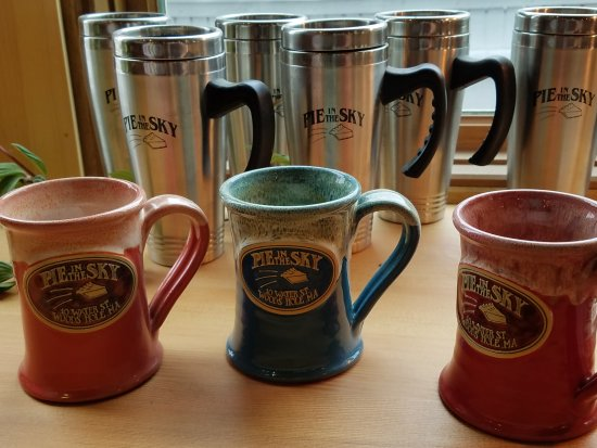 Bakery Swag and promotional ideas - custom pottery mugs for bakeries