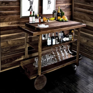 gift ideas man cave with bar cart and coffee mugs