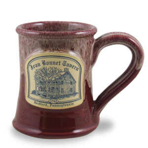 Jean Bonnet Tavern <a class='qbutton' href='https://deneenpottery.com/mug-styles/huckleberry-tent-breakfast/'>View More Details</a>