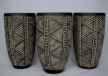 Sfraf Trio Tumblers Pottery