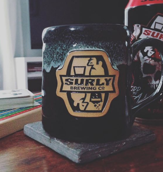 pottery mugs partnership surly brewing.